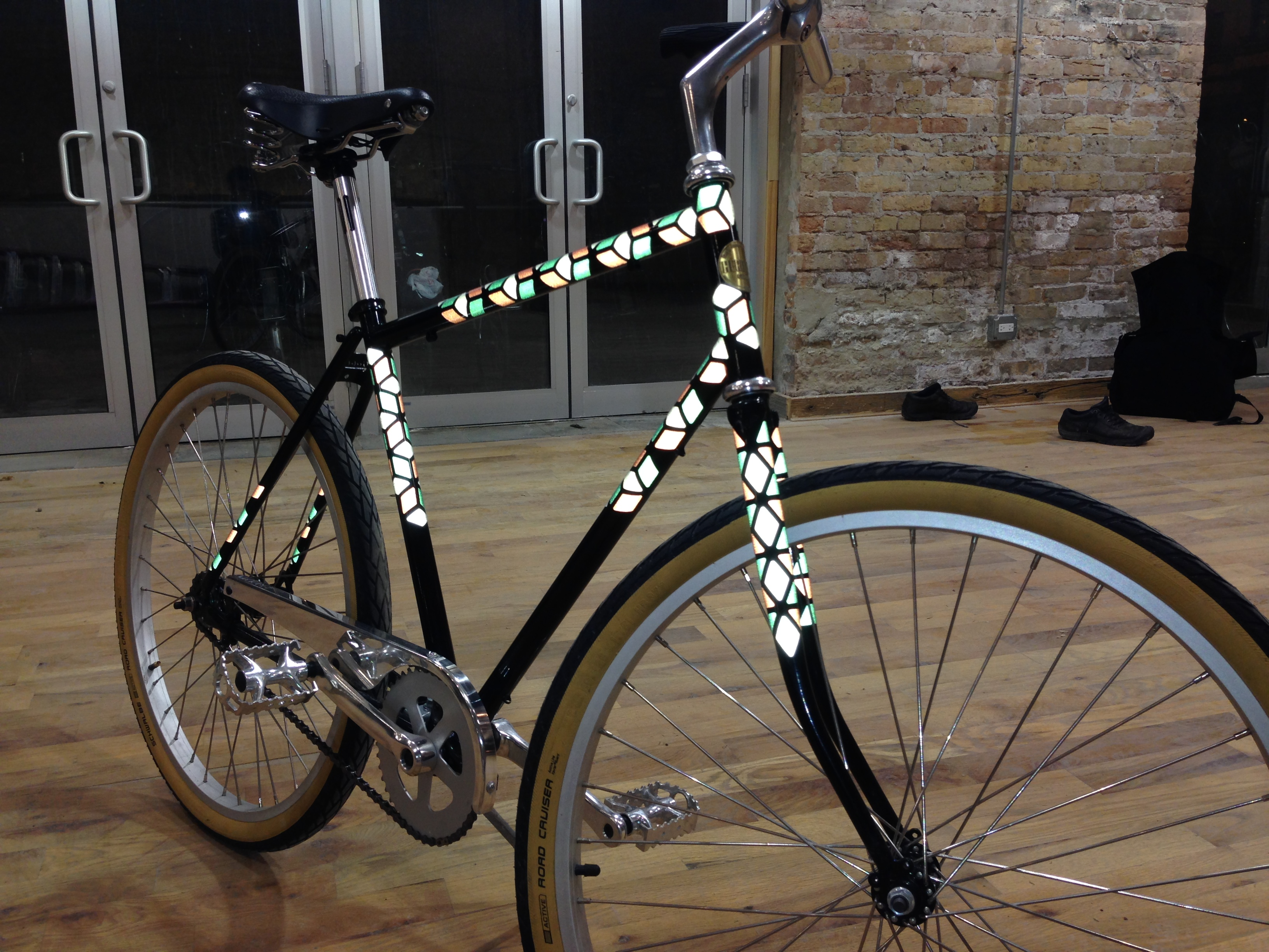 Reflective decals by spoken art displayed is our diy custom bike